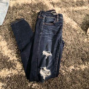 American Eagle dark wash high rise jeans